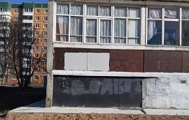 Закрашивание граффити на доме по адресу ул. Сокольская, 9