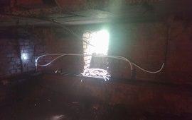 Ремонт стояков в подвале дома по адресу ул. Костычева, 23